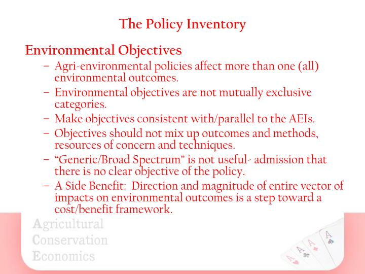 The Policy Inventory