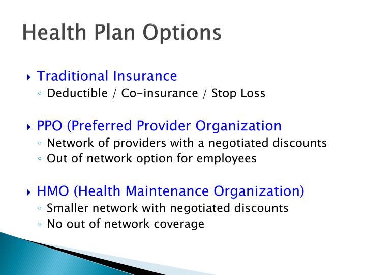 Health Plan Options