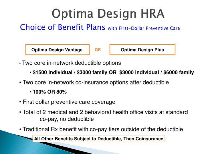 Optima Design HRA