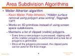 area subdivision algorithms1