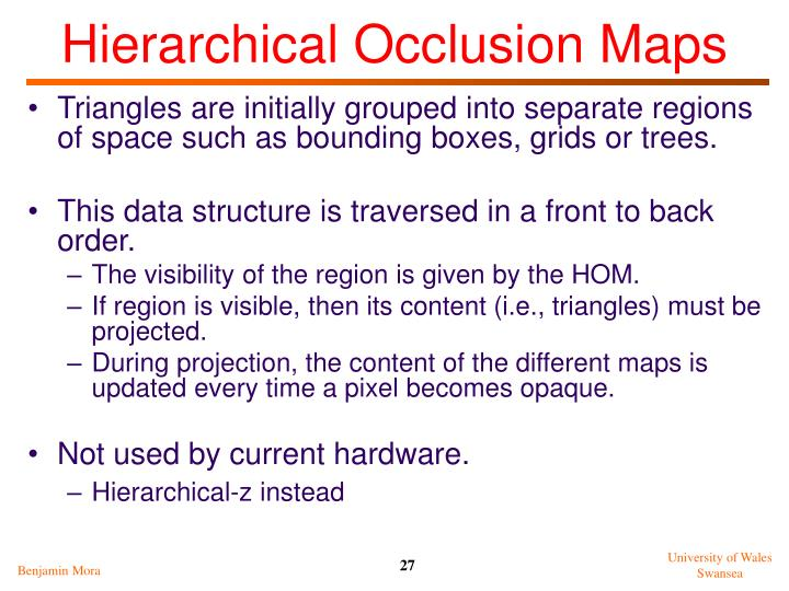 Hierarchical Occlusion Maps