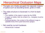 hierarchical occlusion maps1