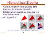 hierarchical z buffer1