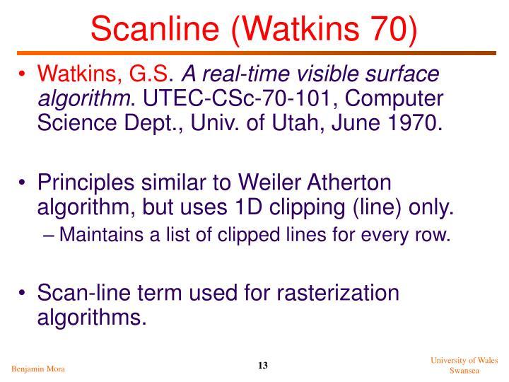 Scanline (Watkins 70)