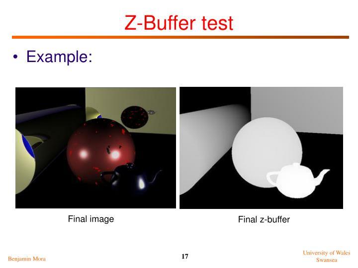 Z-Buffer test