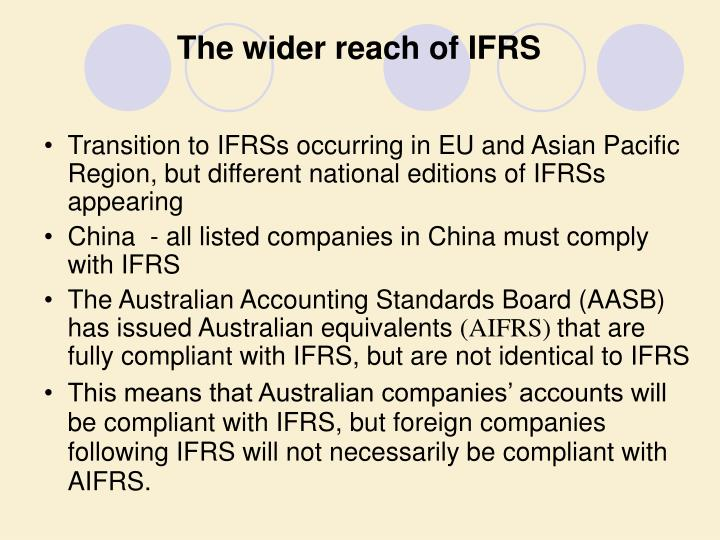 The wider reach of IFRS