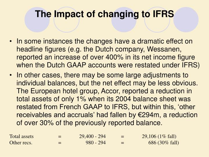 The Impact of changing to IFRS