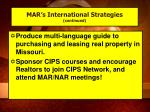 mar s international strategies continued