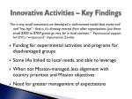 innovative activities key findings