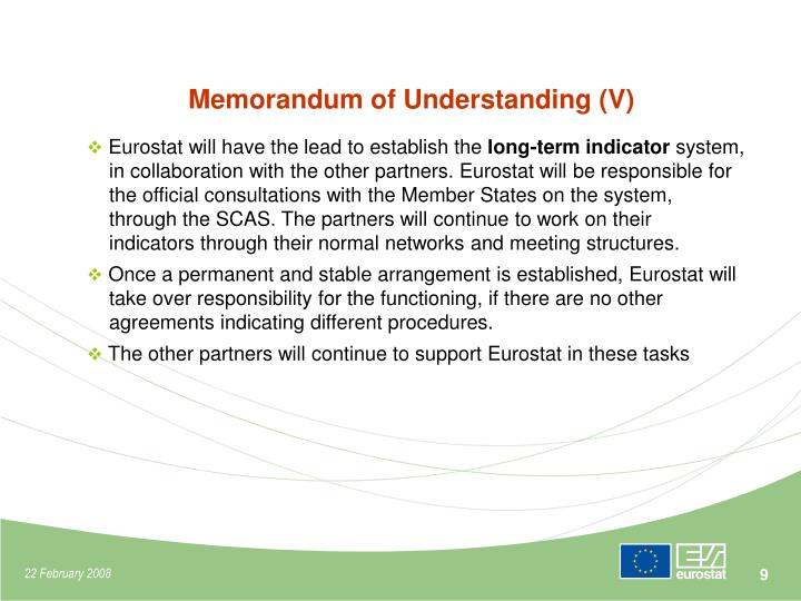 Memorandum of Understanding (V)
