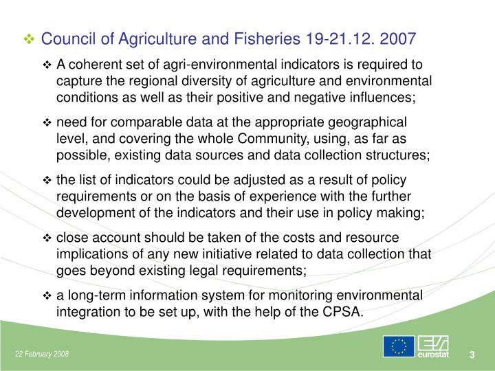 Council of Agriculture and Fisheries 19-21.12. 2007