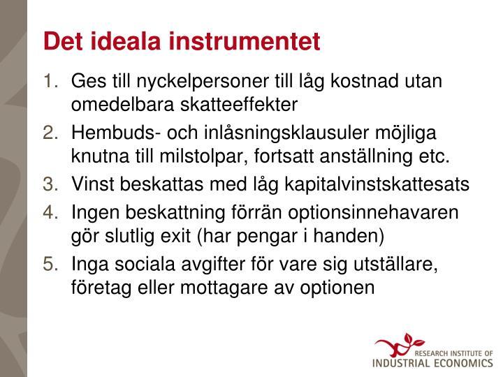 Det ideala instrumentet