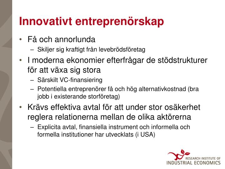 Innovativt entreprenörskap