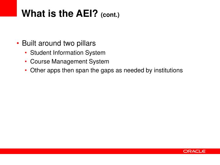 What is the AEI?