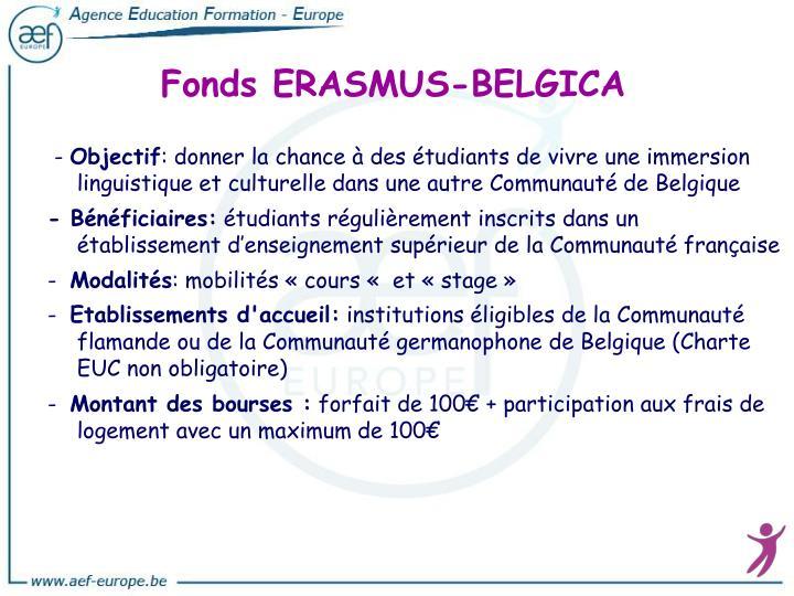 Fonds ERASMUS-BELGICA