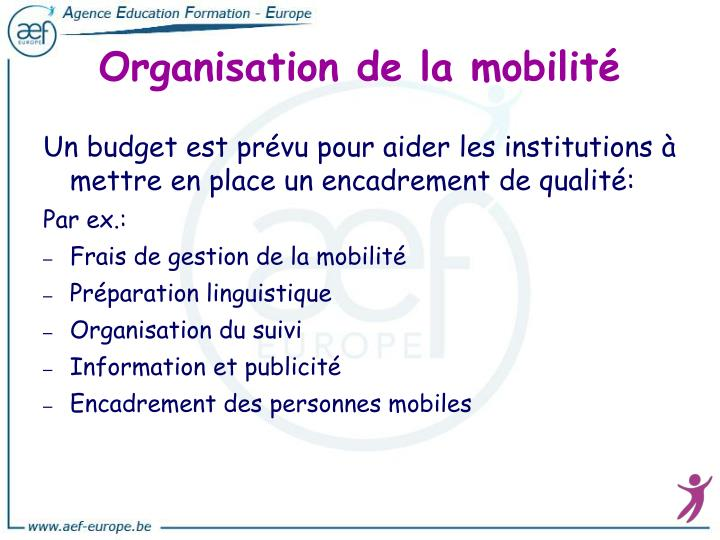 Organisation de la mobilité