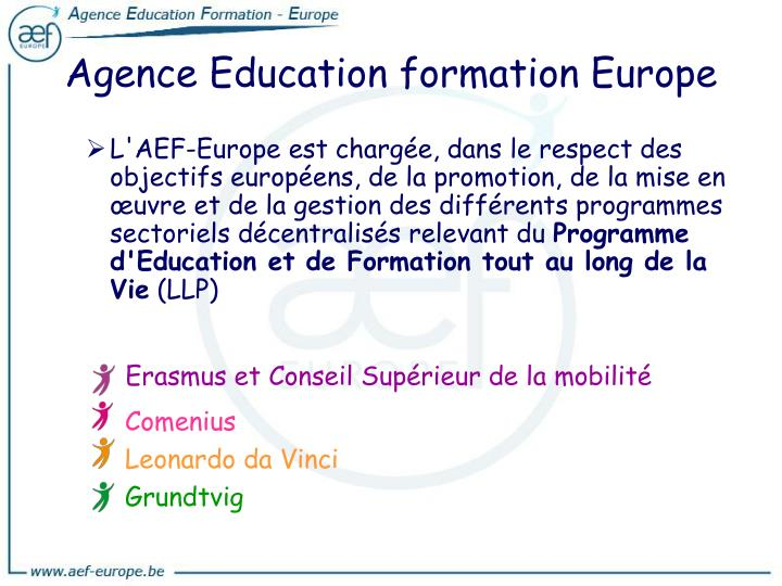 Agence Education formation Europe