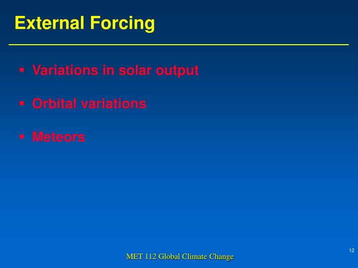 Variations in solar output
