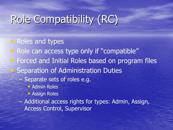 Role Compatibility (RC)