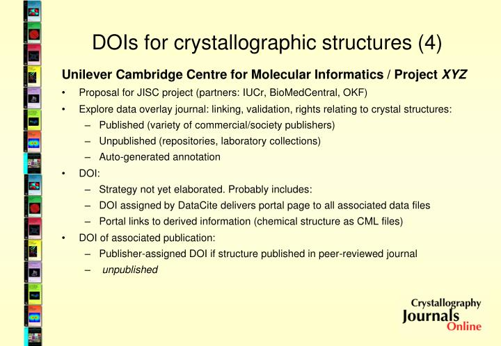 DOIs for crystallographic structures (4)