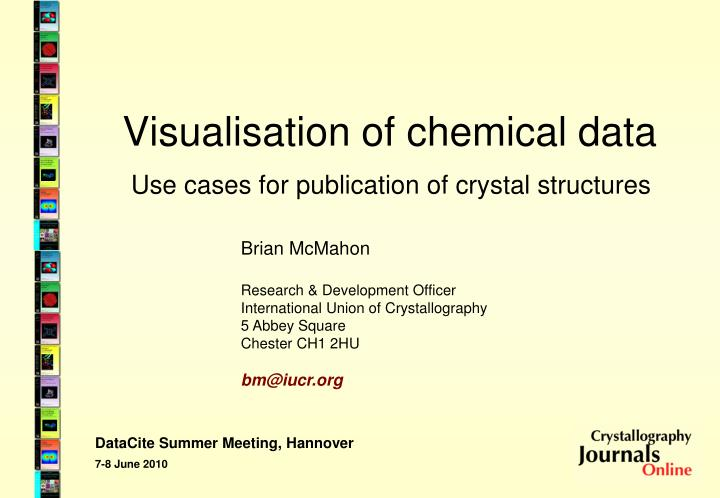 visualisation of chemical data