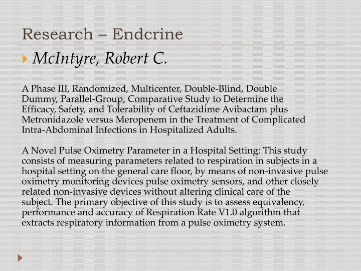 Research – Endcrine