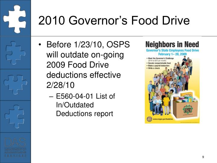 2010 Governor's Food Drive