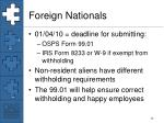 foreign nationals