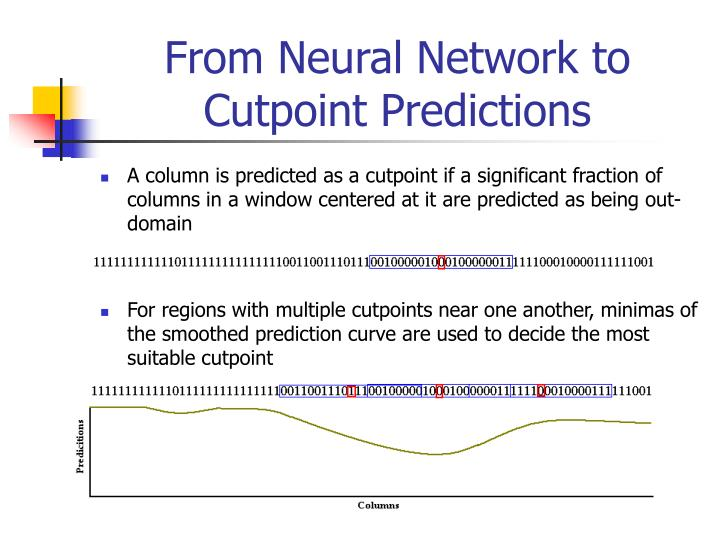 From Neural Network to Cutpoint Predictions