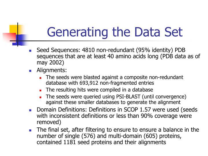 Generating the Data Set