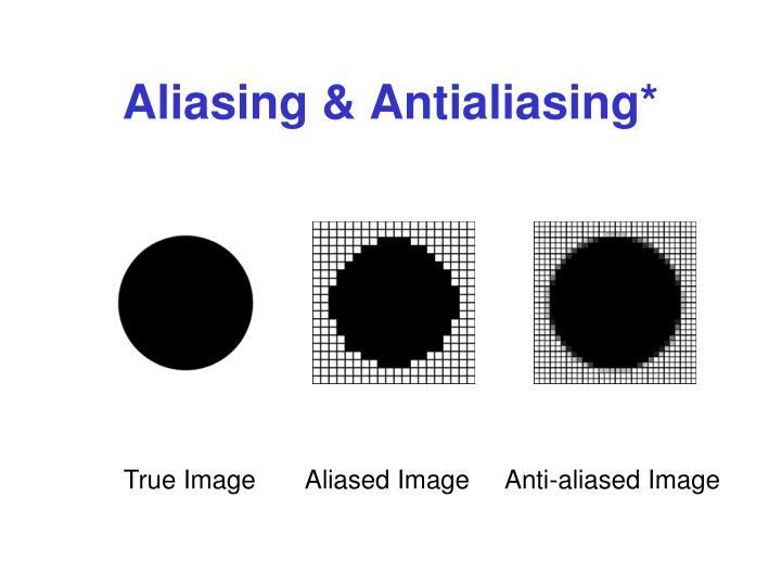 Aliasing & Antialiasing*
