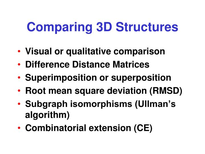 Comparing 3D Structures