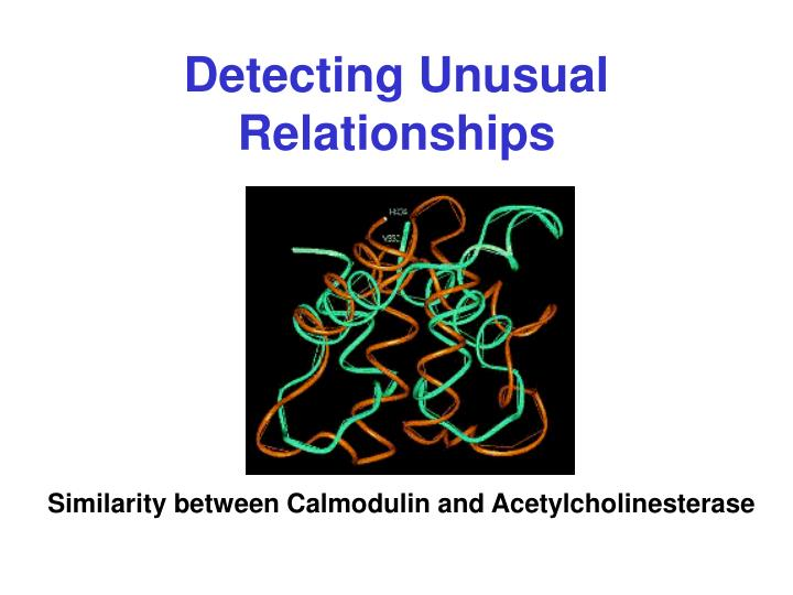 Detecting Unusual Relationships
