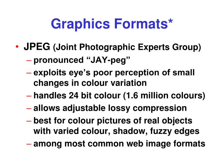 Graphics Formats*