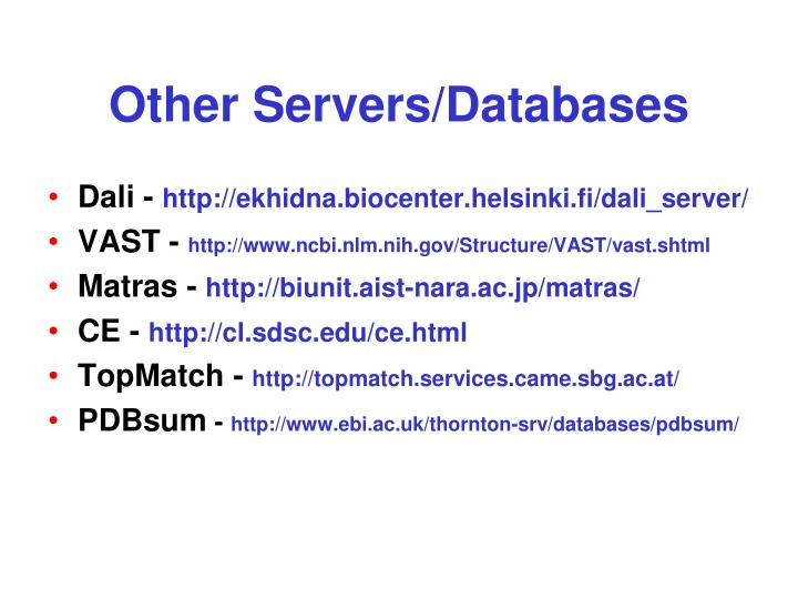 Other Servers/Databases