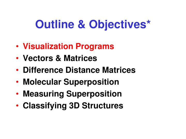 Outline & Objectives*