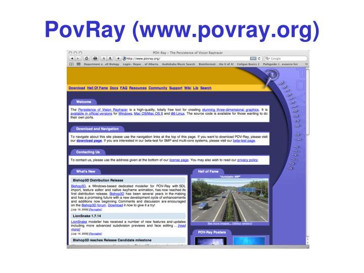 PovRay (www.povray.org)