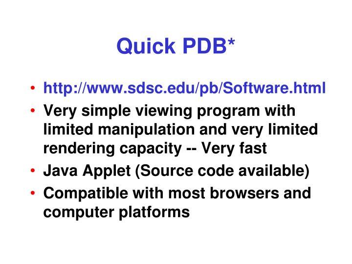 Quick PDB*