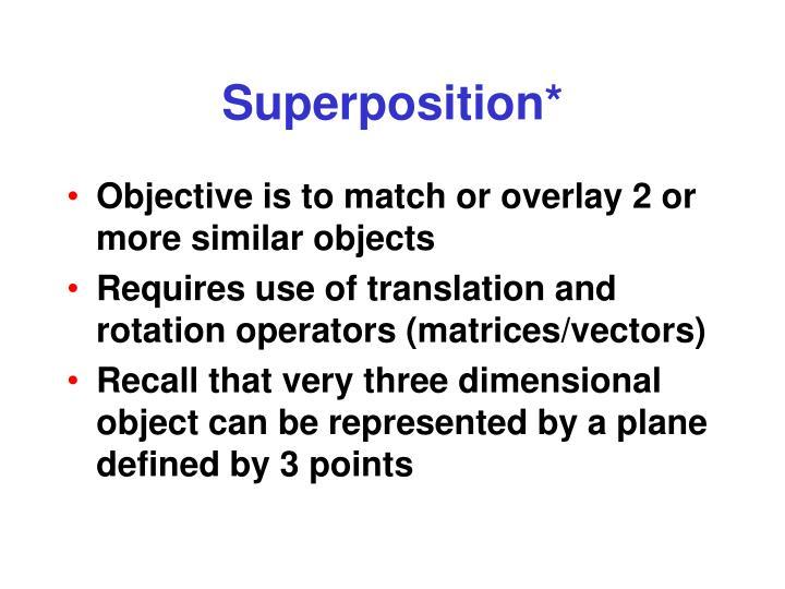 Superposition*
