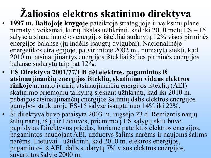Žaliosios elektros skatinimo direktyva