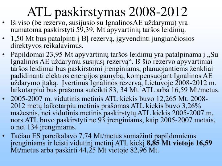 ATL paskirstymas 2008-2012