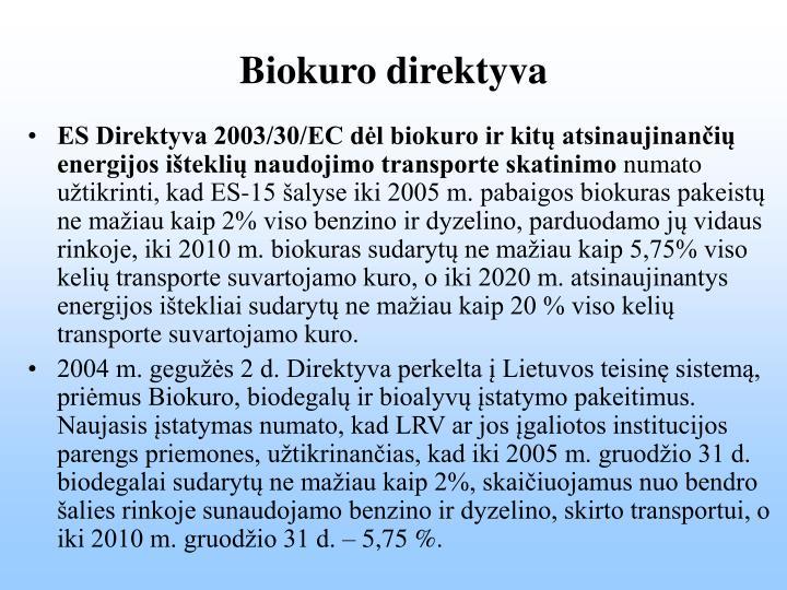 Biokuro direktyva