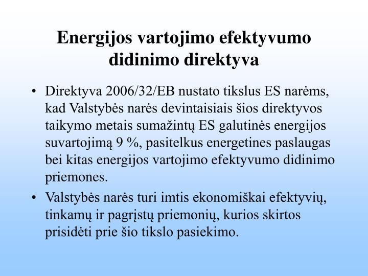 Energijos vartojimo efektyvumo didinimo direktyva