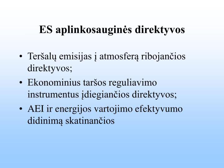 ES aplinkosauginės direktyvos