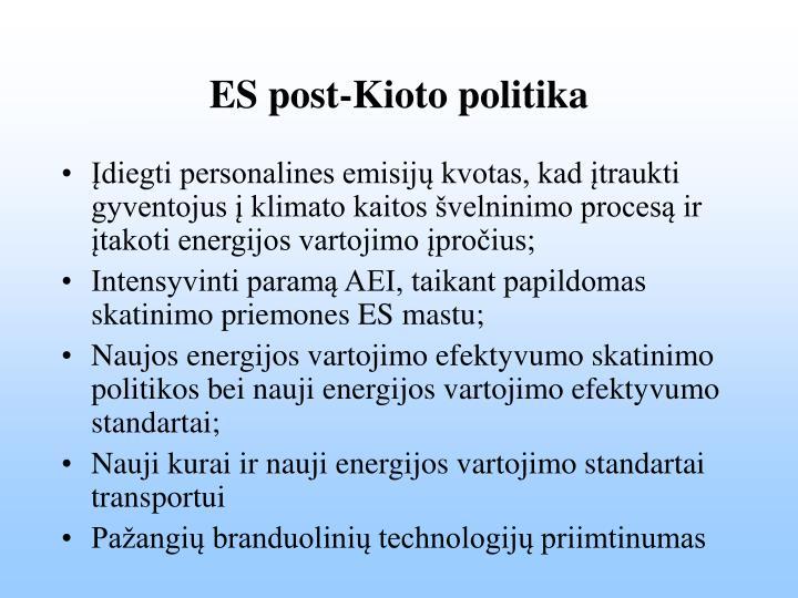 ES post-Kioto politika