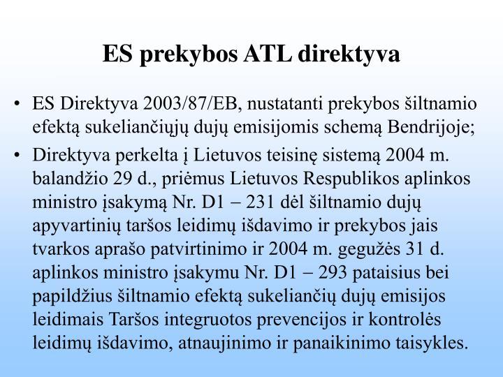 ES prekybos ATL direktyva