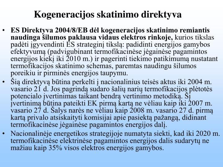 Kogeneracijos skatinimo direktyva