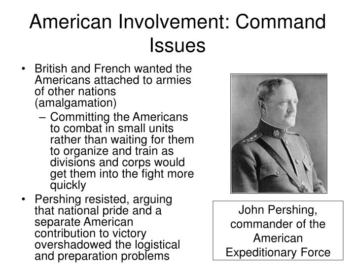 American Involvement: Command Issues