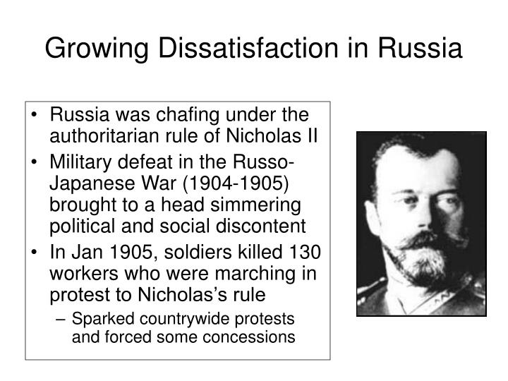 Growing Dissatisfaction in Russia