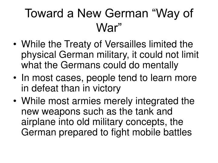 "Toward a New German ""Way of War"""